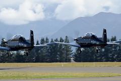 RNZAF Beechcraft T 6 Texan IIs (GJC1) Tags: display saturday warbird airdisplay texanii warbirdsoverwanaka gjc1 wanakaairport geoffcollins