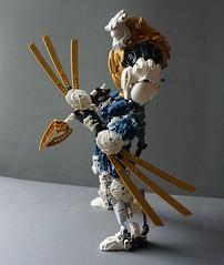 Frax, The Hunter (JakTheMad) Tags: knife bow hunter bionicle frax piraka skakdi
