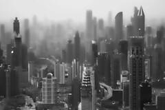 Foggy Metropolis (UrbanCyclops) Tags: china city urban blackandwhite monochrome skyline buildings asia cityscape skyscrapers shanghai outdoor towers metropolis density