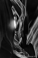 Antelope Canyon 9 (garylestrangephotography) Tags: light arizona blackandwhite usa white abstract black texture tourism monochrome rock stone dark landscape grey mono blackwhite nationalpark pattern outdoor indian surreal wave monotone tourist canyon serene slot touristattraction reservation antelopecanyon navajonation touristdestination touristlocation garylestrangephotography