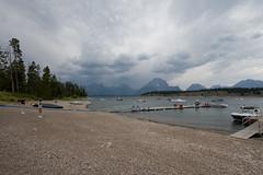 change of weather (brianficker) Tags: lake weather rockymountains wyoming grandtetons mountainwesttrip07