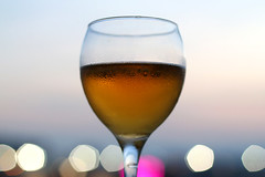Cold Beer (material grrrl) Tags: summer cold beer glass evening drink bokeh 365