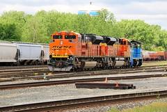 BNSF's Finest (BravoDelta1999) Tags: railroad yard illinois railway bnsf 153 riverdale emd sw1500 burlingtonnorthernsantafe ihb blueisland 8584 indianaharborbelt sd70ace gmtx