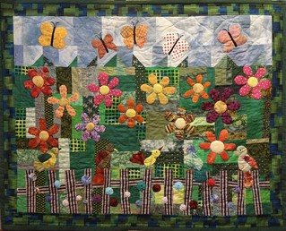 naomi's garden: a baby quilt for a new baby.