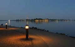 Midnight by the sea (KaarinaT) Tags: sea summer june night island lights helsinki dusk midnight kaivopuisto suomenlinna sveaborg nightlessnight