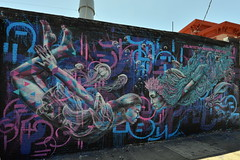 Undersea Adventure Times Three (Eddie C3) Tags: streetart art astoriaqueens wallmurals marcevan chrissoria wellingcourtmuralproject joelartista arasolart