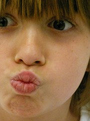 MoniKiss (gregarch2) Tags: silly girl face kiss funny child lips blow american pucker