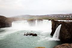 Waterfall of the Gods 1/2 (Gulius Caesar) Tags: water canon landscape eos rebel waterfall iceland rocks gods t2i gothafoss