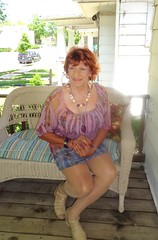 My Early-Summer Mid-Week Shopping Outfit (Laurette Victoria) Tags: summer woman necklace redhead milwaukee porch laurette