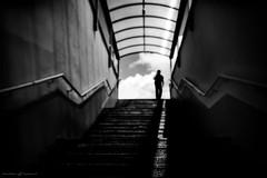 He (dalibor.papcun) Tags: blackandwhite bw streets mystery dark subway person dof monochromat stphotography