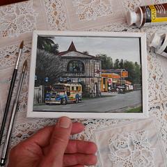 acrylic miniature photorealism painting (peha2217) Tags: jeepney boholm bohol philippines superrealism photorealism photorealist hyperrealism artist