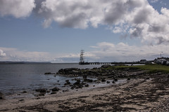 Islay 2016 2 (30) (Yorkshire Reckless & Proud) Tags: blue shadow sea people musician cloud sun lighthouse black bird beach birds silhouette vw landscape scotland boat ship harbour cottage sails tent islay seal duster van camper distillery orsay bowmore bruichladdich dacia