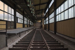 the last station (jkatanowski) Tags: urban abandoned window canon europe industrial decay tracks poland indoor tokina forgotten exploration urbex 1116mm
