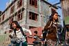 Schoolgirls - Kalaymyo, Myanmar (Maciej Dakowicz) Tags: people kids children asia burma streetphotography myanmar schoolgirls kale kalay kalaymyo