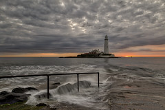 WAVES IN THE SKY (lynneberry57) Tags: sea lighthouse seascape water beauty weather clouds sunrise canon landscape island coast rocks flickr waves tide 70d leefilters