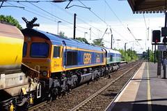 66736 & 66711 at Morpeth (stephen.lewins (1,000 000 UP !)) Tags: railways sheds sence class66 ecml wolverhamptonwanderers railfreight 66711 66736
