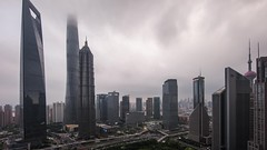 Timelapse of Lujiazui Shanghai (HIKARU Pan) Tags: china city building horizontal night outdoors timelapse video asia cityscape nightscape shanghai cloudy chinese aerialview jinmaotower lujiazui lujia 14l shanghaitower 1dx canonef14mmf28liiusm timelapsevideo shanghaiworldfinancialcenterswfc eos1dx