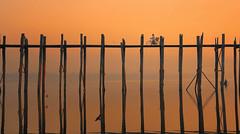Ubein Sunrise (craigkass) Tags: sunrise asia southeastasia burma myanmar mandalay ubeinbridge