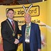Showtel Des Foley, The ZipYard and Stephen McNally, IHF President