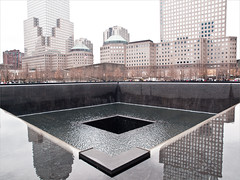 The National September 11 Memorial pools on the site of the former World Trade Center feel like looking down into yawning pits of hell, and being there inspired the same sense of nameless panic and helplessness I felt that day. (TheeErin) Tags: water fountain march memorial 911 11 september financialdistrict inspiring feels september11memorial acaseofthefeels