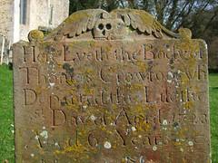 winged skull, 1728 (Simon_K) Tags: church suffolk thomas churches eastanglia crowfoot brundish