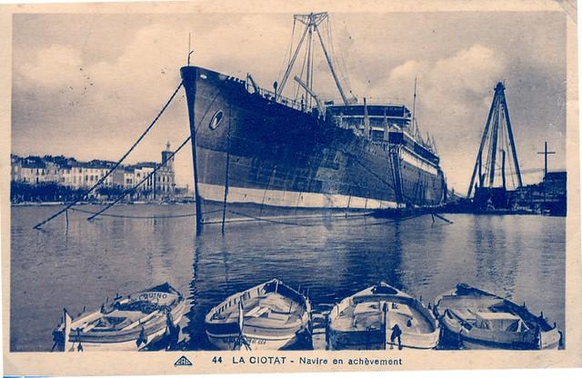 1929.10 - J LABORDE (Coll.X.E.) en achèvement à La Ciotat