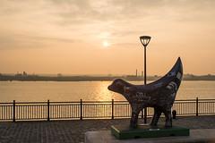 Waterfront sunset (Pablo_R82) Tags: sunset liverpool canon fuji 28mm x 17 28 lambanana 35 vivitar e1 fd 200mm