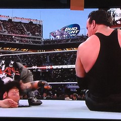 The Undertaker has risen! #awkward #wrestlemania