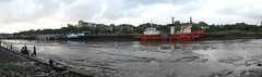 Mumbai Somewhere (A Kamal Khan) Tags: ocean street red sea sky panorama india kids creek train canon children bay boat asia ship pano railway bombay mumbai slum reayroad abkamalkhan akamalkhan