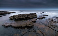 Monk Nash (technodean2000) Tags: uk sea water wales point landscape coast nikon rocks south monk nash lightroom d5300