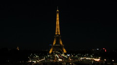 Night Light (twinsfan7777) Tags: city light paris france tower monument up night lights eiffel tourist lit attraction exciting