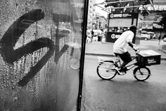 Rushing for It (Airicsson) Tags: street nyc urban newyork sex lumix chinatown cycle canalstreet lx7 camillelacroix
