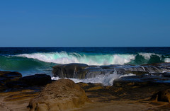 Turquoise Waves (susancvineyard) Tags: ocean sea seascape beach lava rocks waves wave australia pools queensland sunshinecoast mooloolaba molten glassmountains mooloolababeach