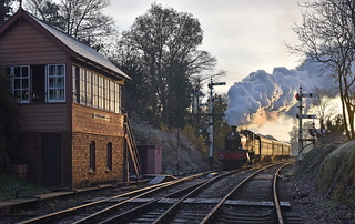 Approaching Bewdley, Severn Valley Railway, UK