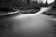 15 Minutes at Six Finger Falls (tmgerard) Tags: longexposure blackandwhite bw water monochrome landscape waterfall hiking wideangle arkansas weldingglass fallingwatercreek sixfingersfalls