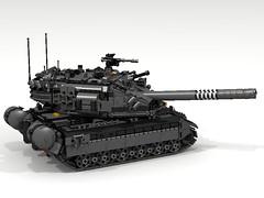 """Marauder"" Main Battle Tank (Lee_Barton87) Tags: lego military marauder ldd heavytank internalview legotank"