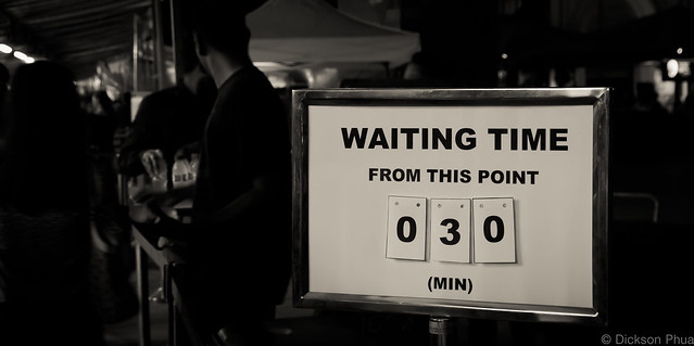 Waiting time 30 minutes