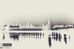 Houses Of Parliament [Negative] (Ben K Adams) Tags: westminster canon magazine photography image stock housesofparliament potd cc license editorial processed 2tone rf licensing 6d twotone royaltyfree stockimage noncommercial hipsterart 500px editorspick hipsterphotography hipsterlook hipsterdslr