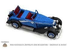 Maybach Zeppelin DS8 Roadster (1938 - Erdman & Rossi) (lego911) Tags: auto classic car vintage germany 1930s model lego render 1938 under over zeppelin convertible german million veteran challenge thousand cad 89 roadster povray v12 maybach moc ldd miniland ds8 lego911 overamillionunderathousand