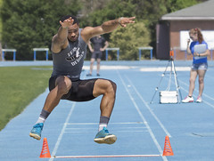 CNU Christopher Newport Univ. Virginia Captains Classic Track and Field meet long jump (cnu_sports) Tags: classic sports field canon captains virginia athletics jump jumping long track christopher running run newport univ meet cnu 60d