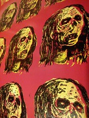 Sticker production (andres musta) Tags: andres musta block print sticker stickerart zombie zas zombieartsquad art squad stickers adhesive