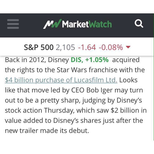 Disney shares went up $2 BILLION after the second STAR WARS: THE FORCE UNLEASHED teaser dropped. #NerdsAreTheNewBallers