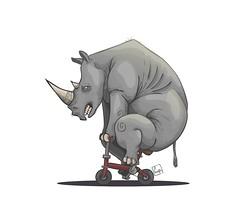 rhino (furagami) Tags: color animal vector fula furato