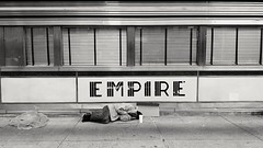 Living the dream in the city that never sleeps. (Robert Jack Images) Tags: nyc newyorkcity blackandwhite manhattan homeless