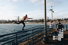 Part of this guys workout (grapesoda_76) Tags: ocean camera travel vacation photography pier santamonica streetphotography workout santamonicapier compact rx100 travelcalifornia sonyrx100 rx100m3 rx100iii sonyrx100m3