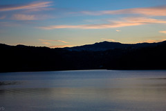 Fort Collins (bharathrajneerkaje) Tags: city sunset sky bw copyright moon lake mountains sunrise grey dawn spring focus outdoor dusk denver reservoir snowfall mallstreet