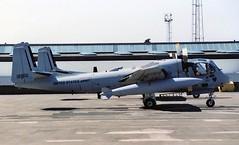 67-18910. United States Army Grumman OV-1D Mohawk (Ayronautica) Tags: june aviation military 1988 scanned turboprop prestwick pik unitedstatesarmy grummanov1dmohawk egpk 6718910