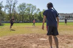 Sweet Kickball Action, Part 2 (aaronrhawkins) Tags: park college students fun university play baseball action running research kickball homebase bases byu thirdbase kiwanispark immerse brighamyounguniversity undergraduates provoutah aaronhawkins onekickwonders brittanystark kalliyanlay