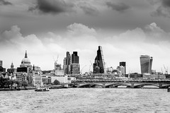Skyline Power (DobingDesign) Tags: bridge sky blackandwhite london water skyline architecture clouds river construction cityscape waterfront riverside cloudy outdoor shoreline citylife stormy cranes stpaulscathedral riverthames tower42 blackfriarsbridge londonarchitecture iconiclondon theshard theleadenhallbuilding