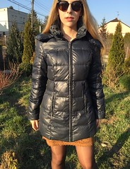 the best ever CAMAIEU down jacket (teranowa6@yahoo.com) Tags: winter cute glamour shiny coat jacket hm zara bunda jacke mantel 2016 doudoune 2017 zimowa kabat camaieu zimni perova puchowa